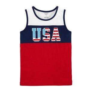 "NWT Carter's KID ""USA"" Americana Tank Top 7"
